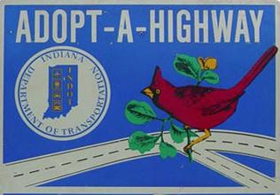 Adopt a highway sign
