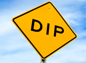 Dip ahead sign