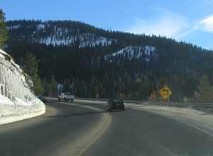 One lane mountain road