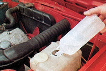 Adding car coolant