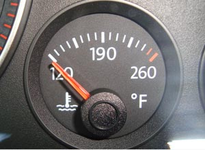 Car Engine Temperature Gauge