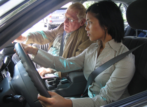 Drivers education, driving instructor