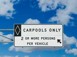Carpools only sign