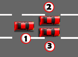 Car lane position