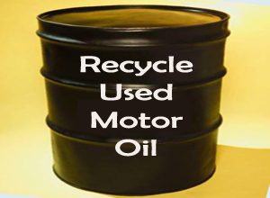 Recycle used motor oil