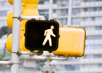 Many street crossings have pedestrian signals that show the words WALK and DONu0027T WALK or show a WALKING PERSON in white and a RAISED HAND in orange. & Pedestrian Signals - DriversEd.com azcodes.com