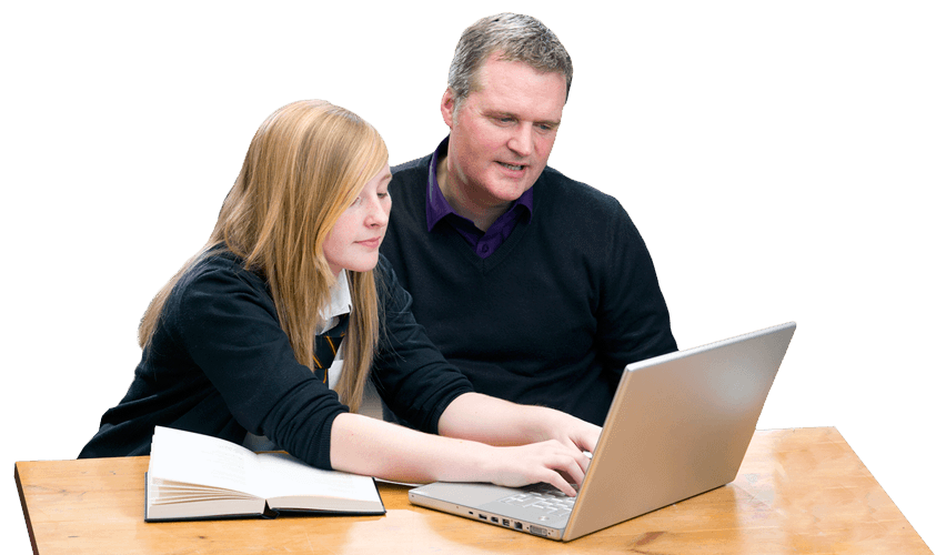 Teen and Parent Studying